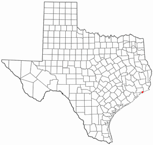 High Island, Texas - Image: TX Map doton High Island