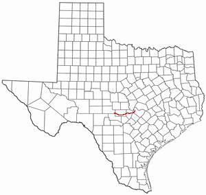Pedernales River - Image: TX Map river Pedernales