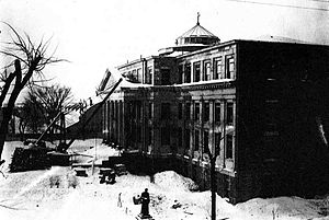 University of Ottawa - Tabaret Hall under construction in 1903 (completed in 1905). Construction began earlier in the year after a fire destroyed the University's main building.