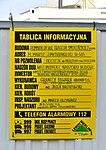 Tablica informacyjna pomnik Ofiar Tragedii Smoleńskiej w Warszawie.jpg