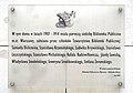 Tablica pamiątkowa Biblioteka Publiczna m.st. Warszawy plac Dąbrowskiego 1.jpg