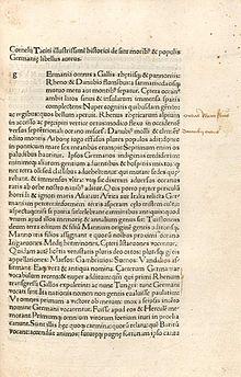 Germania Tacitus Wikipedia
