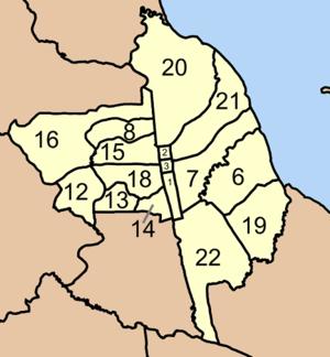 Mueang Nakhon Si Thammarat District - Map of Tambon