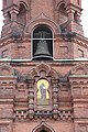 Tampereen ortodoksinen kirkko 4 ulkoseinän ikoni ja kello.jpg