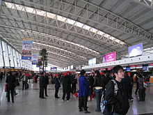 Xi'an Xianyang Airport's check-in area