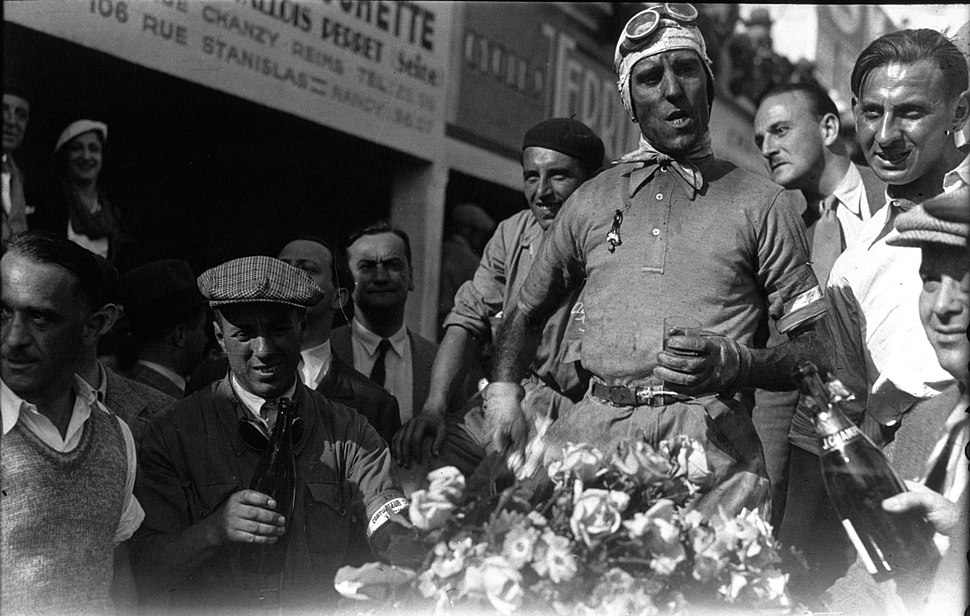 Tazio Nuvolari at the 1932 French Grand Prix