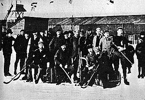 England national bandy team - Team England in the 1913 European Bandy Championships