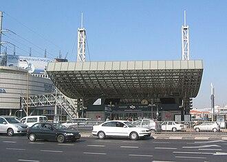 Tel Aviv HaShalom railway station - Main entrance to the train station