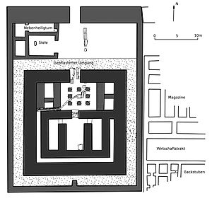 Temple of Ezbet Rushdi - Plan of the temple