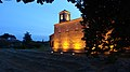 Temple protestant de Lourmarin at night.jpg