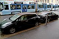 Tesla Model S and Nissan LEAF charging in Oslo.jpg