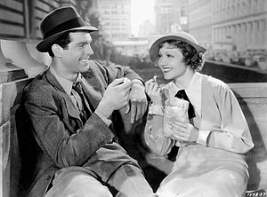 The Gilded Lily (1935 film) - Fred MacMurray and Claudette Colbert in The Gilded Lily