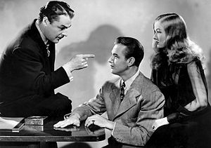 The Glass Key (1942 film) - Brian Donlevy, Alan Ladd and Veronica Lake in The Glass Key