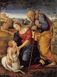 Die Heilige Familie mit dem Lamm (1504), Privatbesitz (Quelle: Wikimedia)