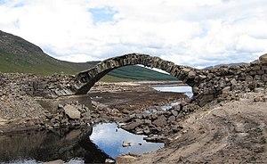 A87 road - Old bridge across Loch Loyne
