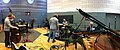 The Bad Plus setting up in studio 80B, BBC Radio 3 In Tune, 2012-10-23.jpg