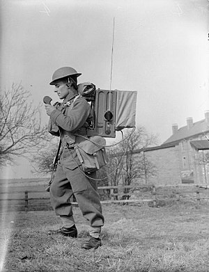 Wireless Set No. 18 - Wireless Set No. 18 in use during a training exercise in 1941