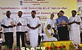 The Chief Minister of Tamil Nadu, Dr Kalaignar M. Karunanidhi unveiling the plague at the function for the National launch of the Integrated Skill Development Scheme in Chennai on October 08, 2010.jpg