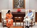 The Governor of Uttarakhand, Baby Rani Maurya calling on the Prime Minister, Narendra Modi, in New Delhi.jpg