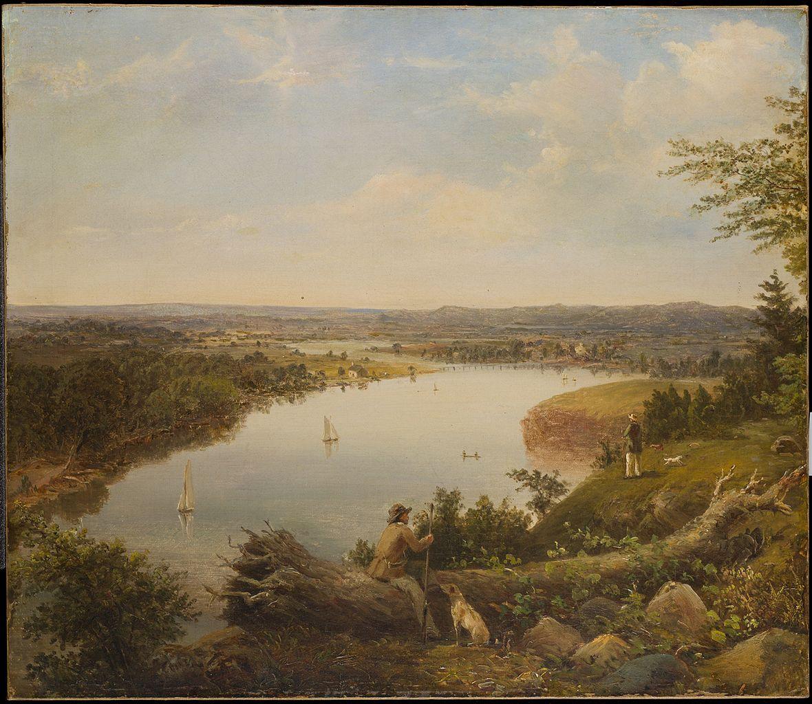 Hudson Valley New York: File:The Hudson River Valley Near Hudson, New York MET
