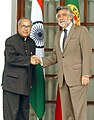 The Minister of Foreign Affairs of Portugal, Dr. Luis Amado meeting with the Union Minister of External Affairs, Shri Pranab Mukherjee, in New Delhi on July 07, 2008.jpg