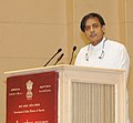 The Minister of State for Human Resource Development, Dr. Shashi Tharoor addressing at the presentation of the National Tourism Awards, in New Delhi on February 18, 2014.jpg