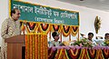 The Minister of State of Health and Family Welfare, Shri Dinesh Trivedi addressing at the inaugural function of Out Patients Waiting Hall of National Institute of Homoeopathy, in Kolkata on September 17, 2009.jpg