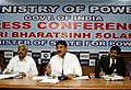 The Minister of State of Power, Shri Bharatsinh Solanki briefing the media persons about recent developments in Power Sector, in Ahmedabad on November 05, 2009.jpg