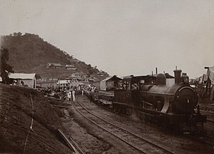 Colonial Nigeria - Undated British archival photo of locomotive in Nigeria