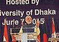 The Prime Minister, Shri Narendra Modi addressing at the Bangabandhu International Convention Centre, in Dhaka, Bangladesh on June 07, 2015 (2).jpg
