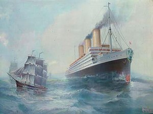 Imperator-class ocean liner - Image: The SS Imperator of the Hamburg America Line after A.F. Bishop
