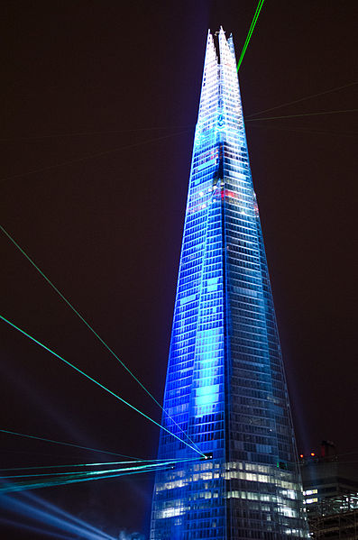 File:The Shard on Opening Night.jpg