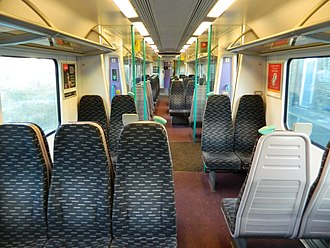 British Rail Class 360 - Image: The Standard Class interior of 360101