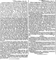 The Times Alexandria Correspondant, 1834 Revolt in Palestine, May 29 1834 and Jul 3 1834.png