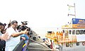 The Union Minister for Shipping, Shri G.K. Vasan flagged off the jetties of the first bulk coal movement project through National Waterways, at a function in Kolkata on November 25, 2013.jpg