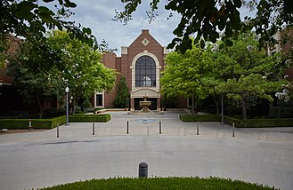 University of Oklahoma College of Law - The William J. Ross Courtyard at the University of Oklahoma College of Law.