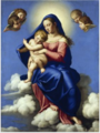 The Virgin and Child Seated in Clouds .PNG