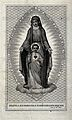 The Virgin of the Sacred Heart. Engraving by A. Lega. Wellcome V0035616.jpg