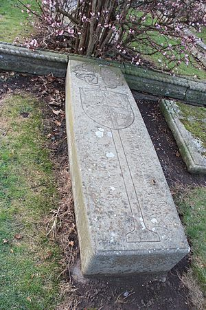 Hugo Charteris, 11th Earl of Wemyss - The grave of Hugo Charteris, Aberlady Churchyard