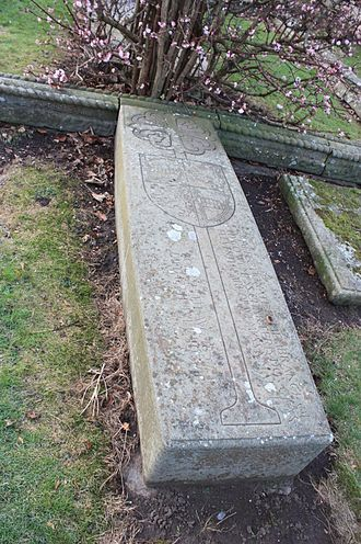 Hugo Charteris, 11th Earl of Wemyss - The grave of Hugo Charteris, Aberlady Churchyard