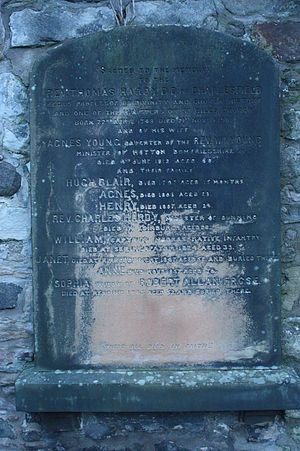 Thomas Hardy (minister) - The grave of Rev Thomas Hardy, Canongate Kirkyard, Edinburgh
