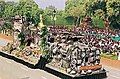 """The tableau from Ministry of Tourism and Culture titled """"Bhimbetka"""" presenting the exquisite inscriptions of our forefathers in Bhimbetka, near Bhopal, passing through Rajpath on the occasion of 55th Republic Day Parade-2004.jpg"""
