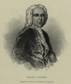 Thomas Cushing - Image: Thomas Cushing, Member of Continental Congress