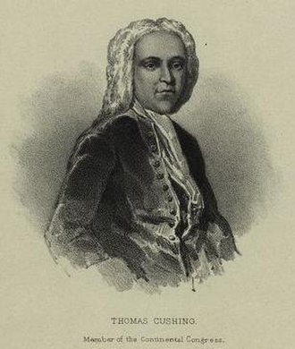 Governor of Massachusetts - Image: Thomas Cushing, Member of Continental Congress