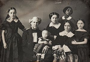 Thomas Ustick Walter - Walter family with servant, circa 1850