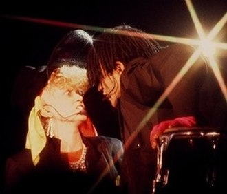 Thompson Twins - Alannah Currie and Joe Leeway, 1984