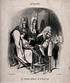 Three long-faced physicians prepare a clyster for a pallid y Wellcome V0011762.jpg