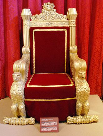 Agustín de Iturbide - Throne of Agustín de Iturbide in the Museo Nacional de las Intervenciones.