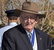 Tim Fischer, AC, at the Reserve Forces Day commemorative service in Wagga Wagga.jpg