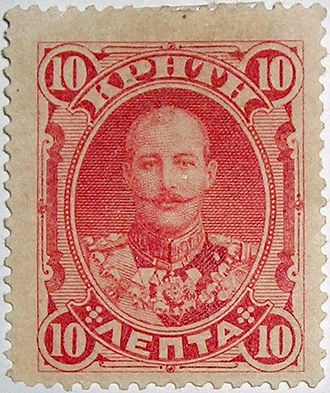 Cretan State - Stamp of Crete, representing the High Commissioner Prince George
